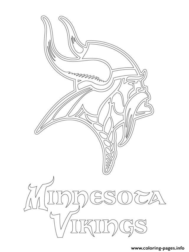 Print Minnesota Vikings Logo Football Sport Coloring Pages