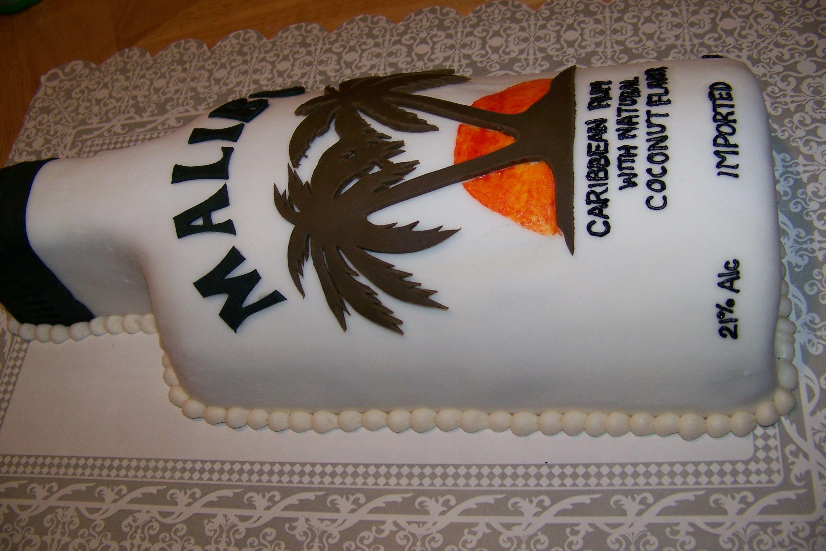 Malibu Rum Cake Malibu Rum Bottle Cake Vanilla Cake With