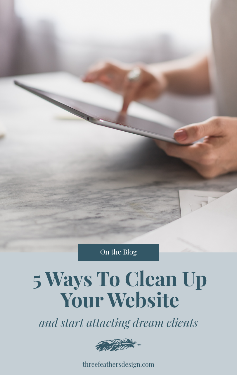 5 Ways To Clean Up Your Website Three Feathers Design Santa Barbara Website Designer Website Design Small Business Start Up Small Business Advice