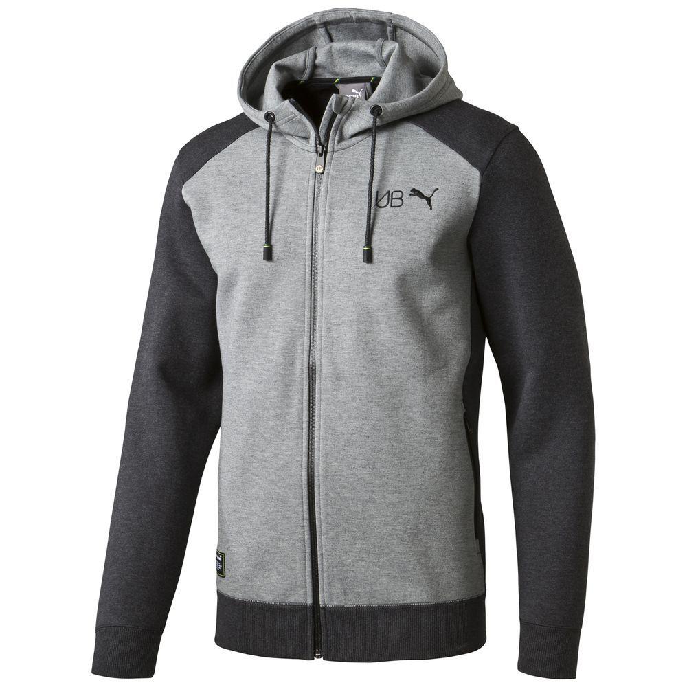 puma usain bolt hooded sweat jacket