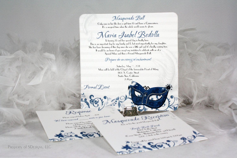 Masquerade Birthday Invitations Masquerade invitations