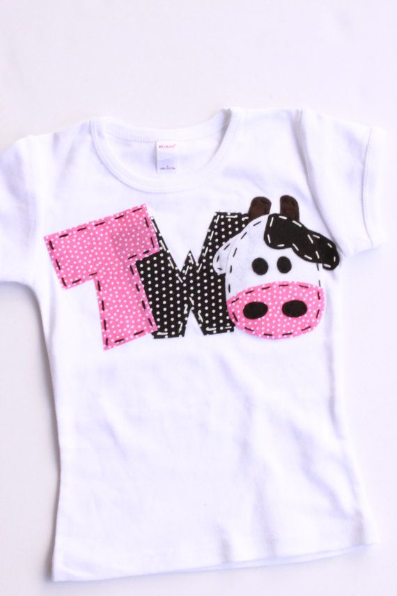2 Barnyard Birthday Shirt Two Cow 2nd Girl T By Codysboutique