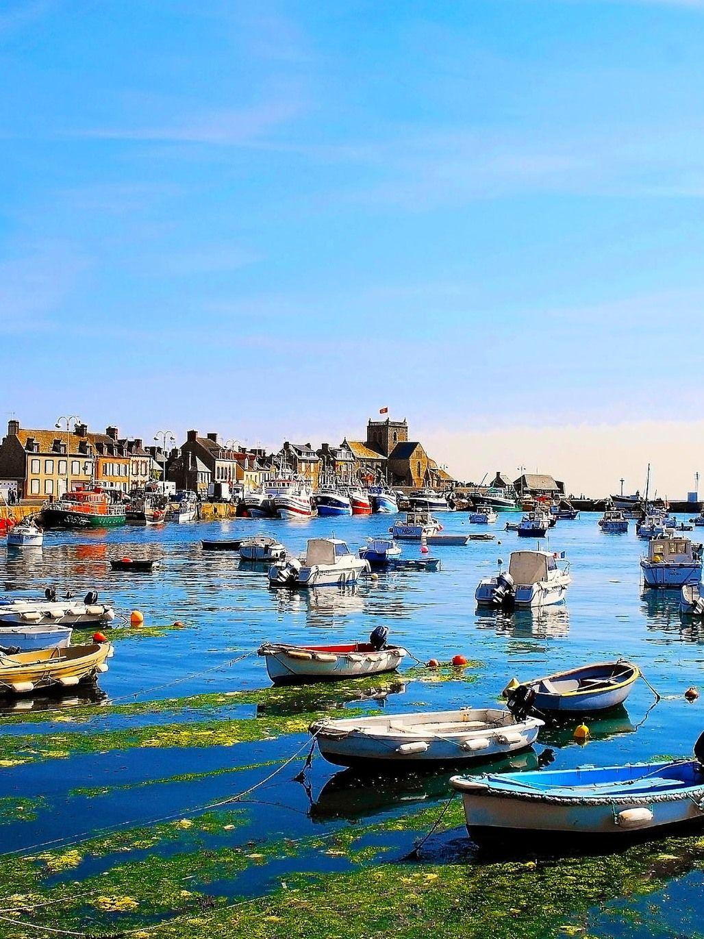 Normandy harbour of Barfleur - France