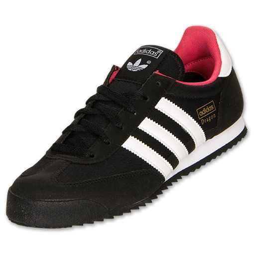 Women\u0027s adidas Dragon Casual Shoes | FinishLine.com | Black/Running White /Blaze