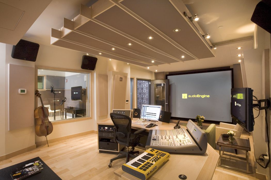 "rear to front view studio ""f"" (audio engine), new york (design"