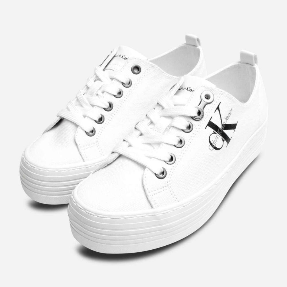 Zolah White Canvas Calvin Klein Chunky
