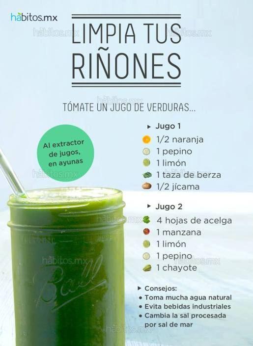 Jugo De Verduras Para Limpiar Los Riñones Frutas Detox Juice Detox Juice Recipes Detox Diet Drinks