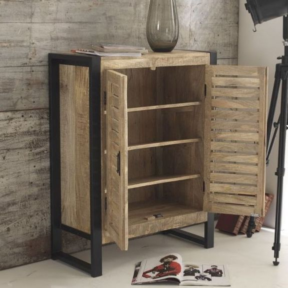 Harbour Indian Reclaimed Wood Furniture Shoe Cabinet Cupboard