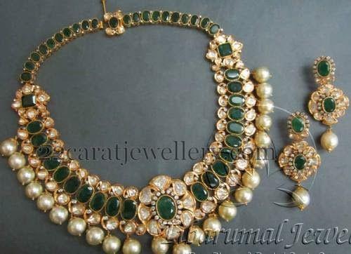Jewellery Designs south sea pearls Tamil Hindu wedding