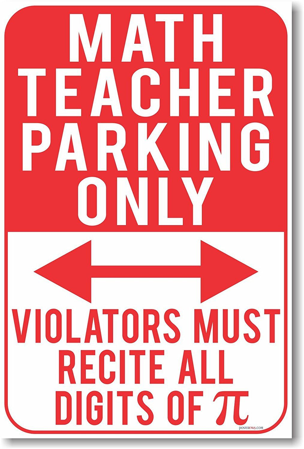 AmazonSmile: Math Teacher Parking Only - Violators Must Recite All ...