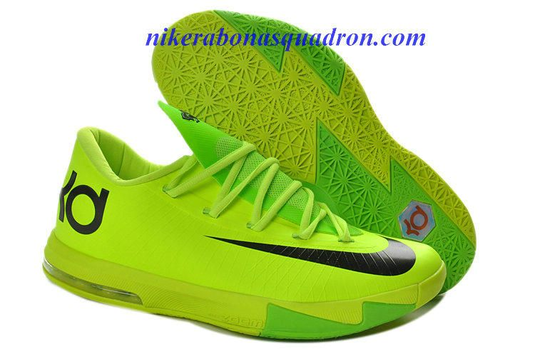 Volt Electric Green Cheap Nike KD VI 6 Shoes For Sale Black 599424 701