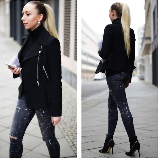 Get this look: http://lb.nu/look/8098522  More looks by Vanessa Kandzia: http://lb.nu/trendique  Items in this look:  Zara Peplum Jacket, Zara Peplum Jacket #2, Zara Skinny Jeans   #chic #classic #street #ootd #peplum #jacket #bikerjacket #skinnyjeans #rippedjeans
