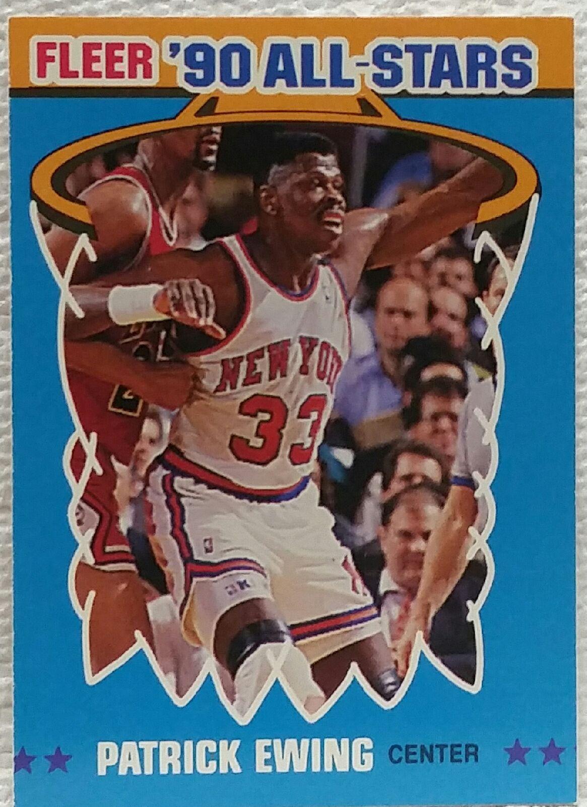 1990 fleer allstar patrick ewing new york knicks nm