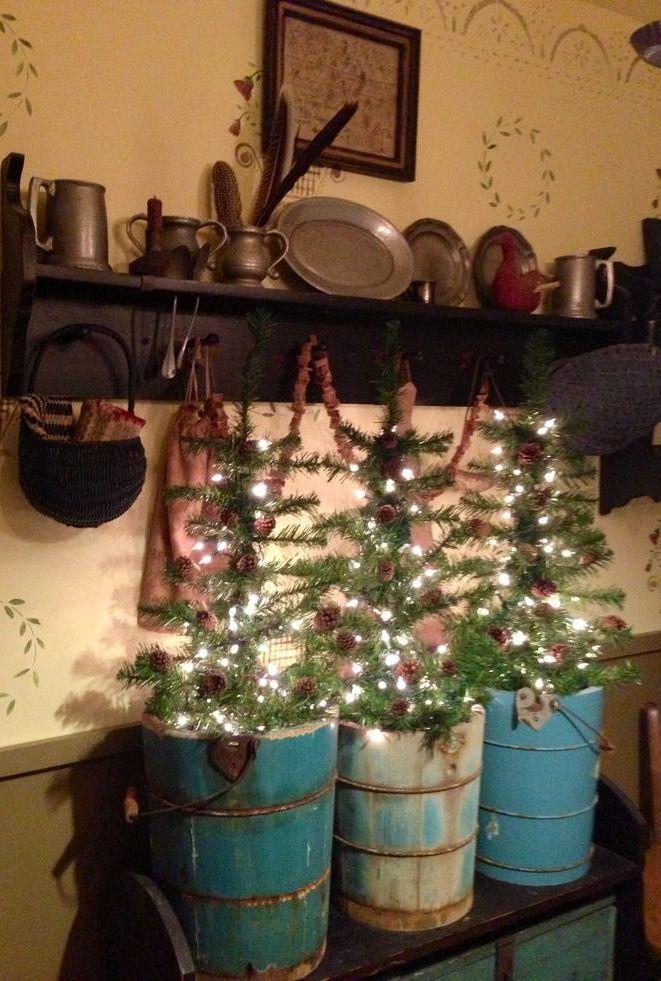 Prim Trees HOLIDAY PRIMS Pinterest Christmas decor - primitive christmas decorations
