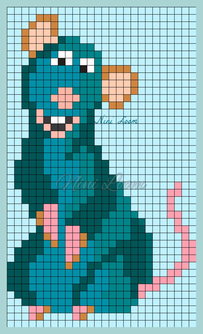 Ratatouille Perler Bead Pattern Dessin Petit Carreau