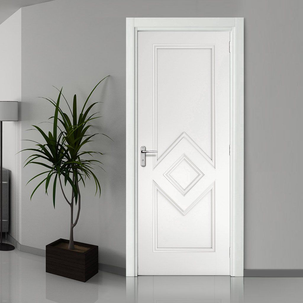 Ascot White Primed Fire Door 1 2 Hour Fire Rated Fire Doors White Doors Door Fittings
