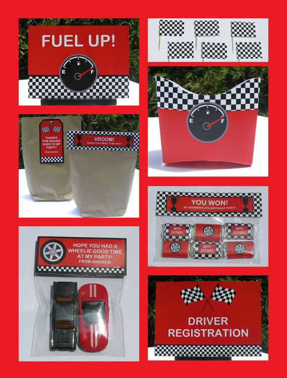 Race Car Party Invitation Decorations Full Printable Package