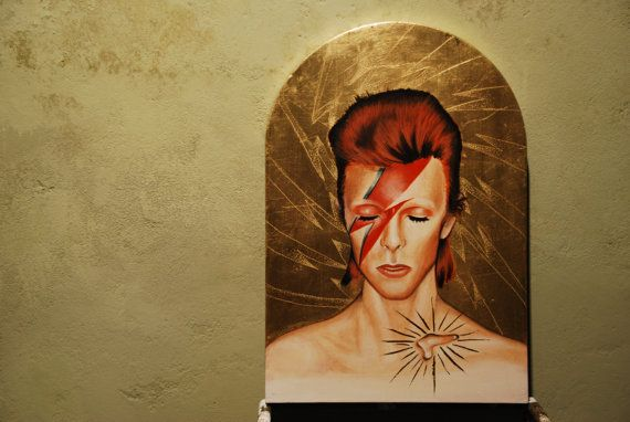 Ziggy Stardust\u2014Original Decoupage Art