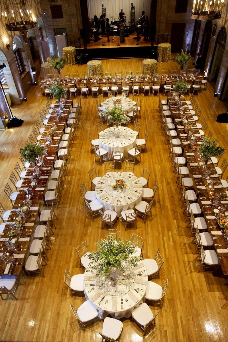 Summer wedding reception at Saint Francis Hall