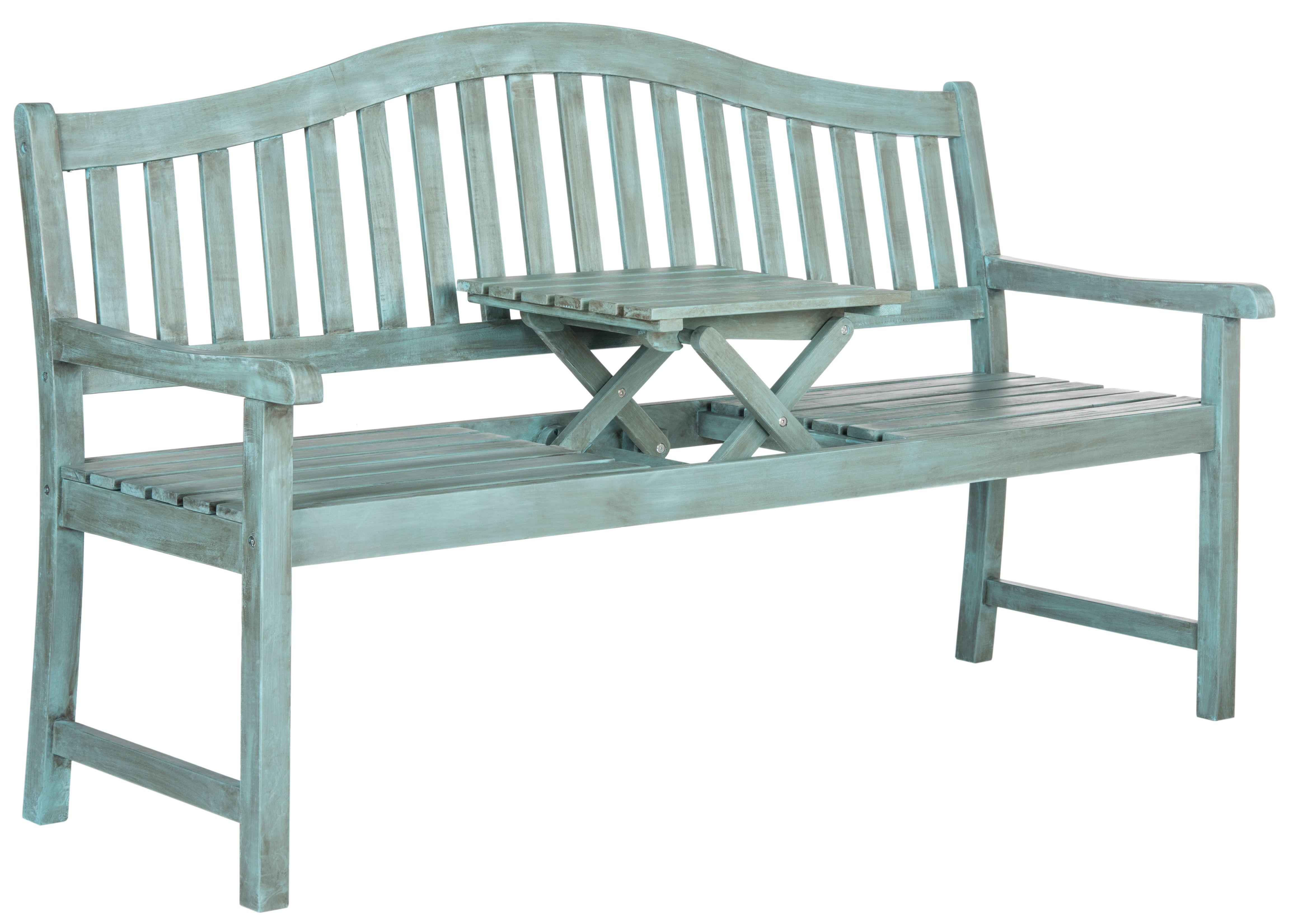 Safavieh Bench Blue Wooden Garden Benches Outdoor Furniture