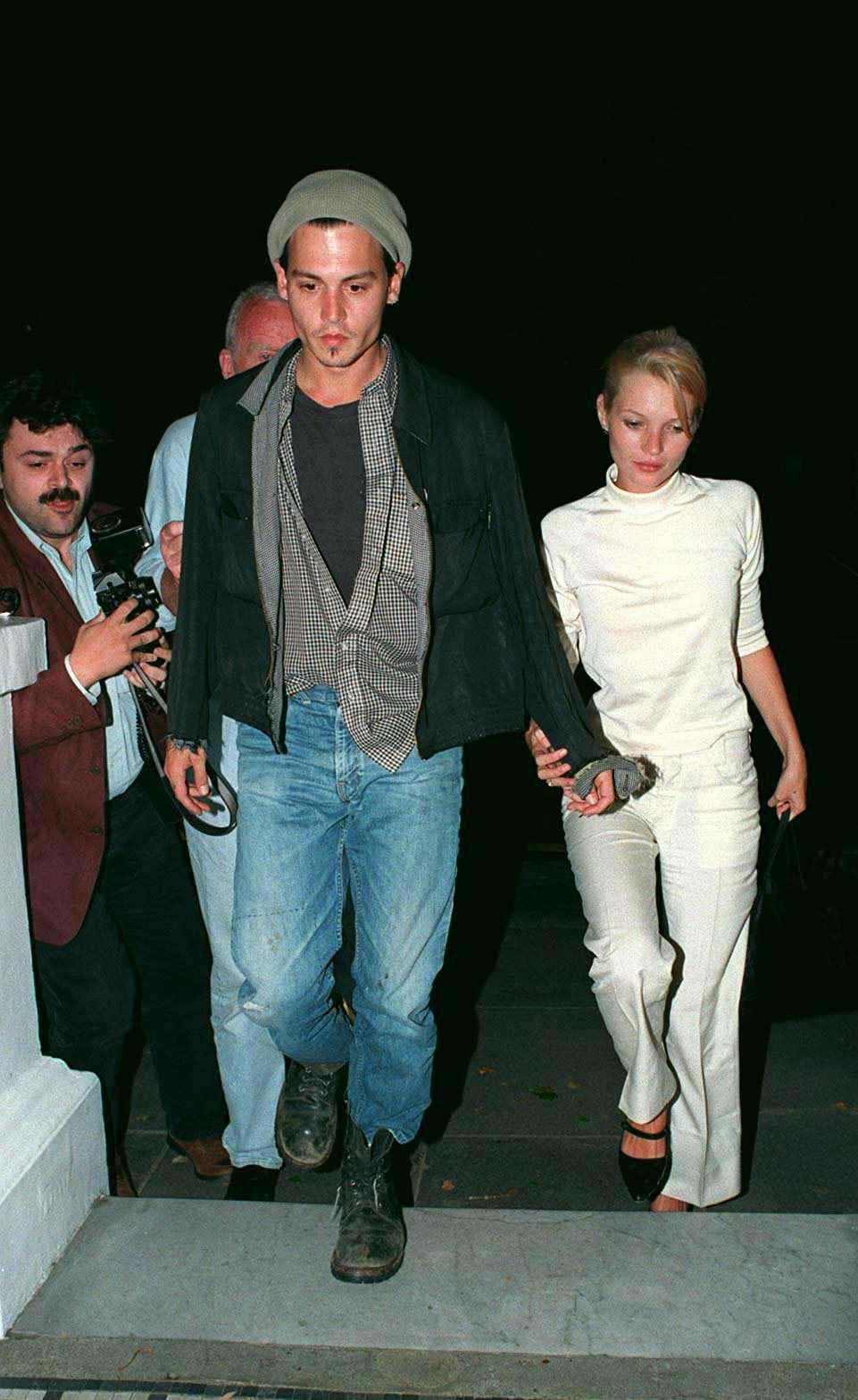 Johnny Depp + Kate Moss | Moss fashion, Kate moss