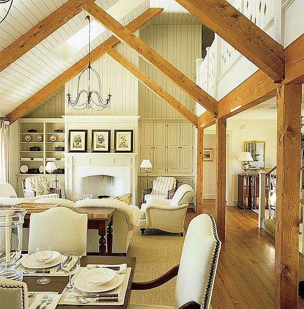 cabin style interior designdesignart - Beach Cottage Decorations