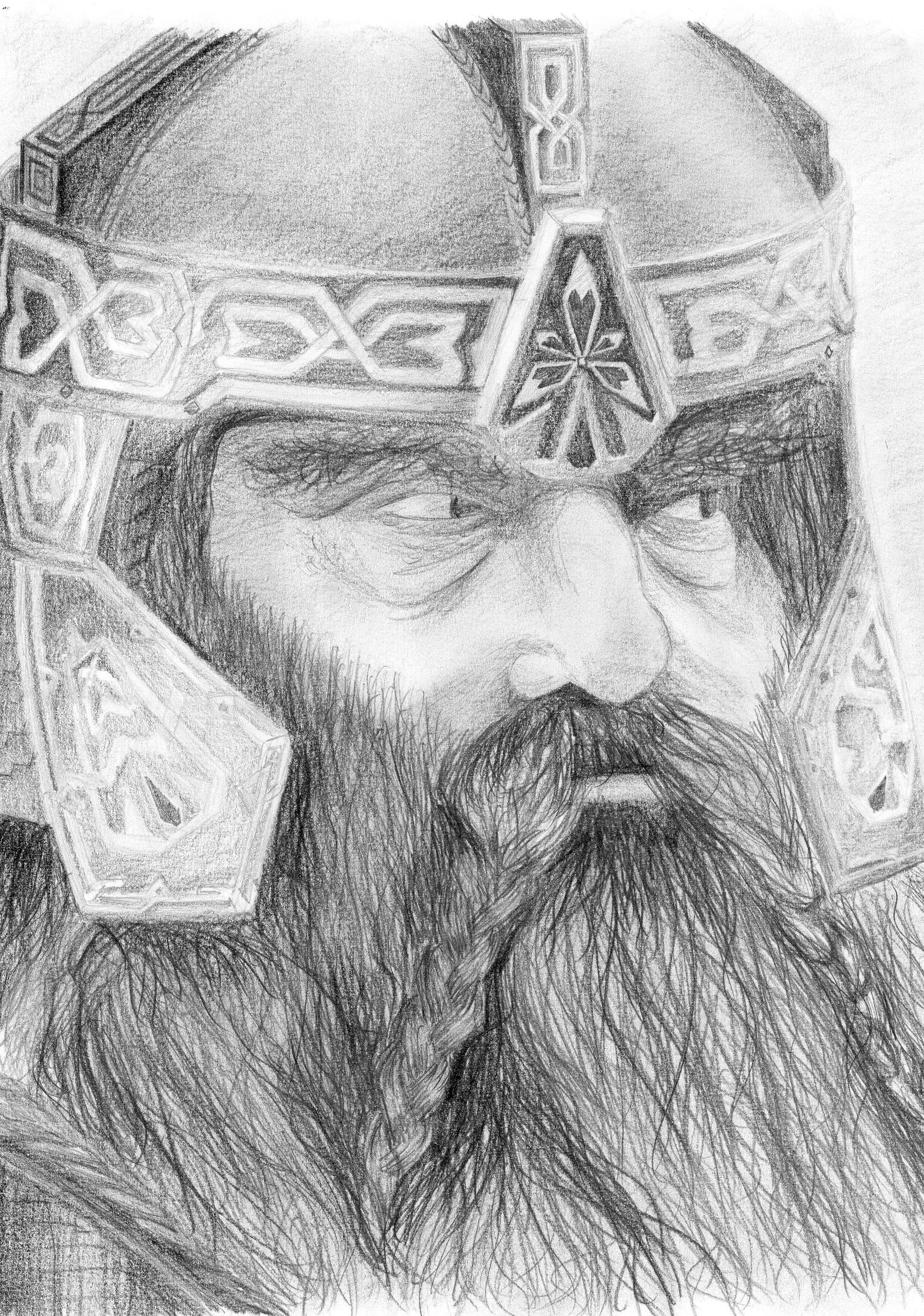 Pencil #drawing of Gimli, Lord of the Rings | Drawing | Pinterest