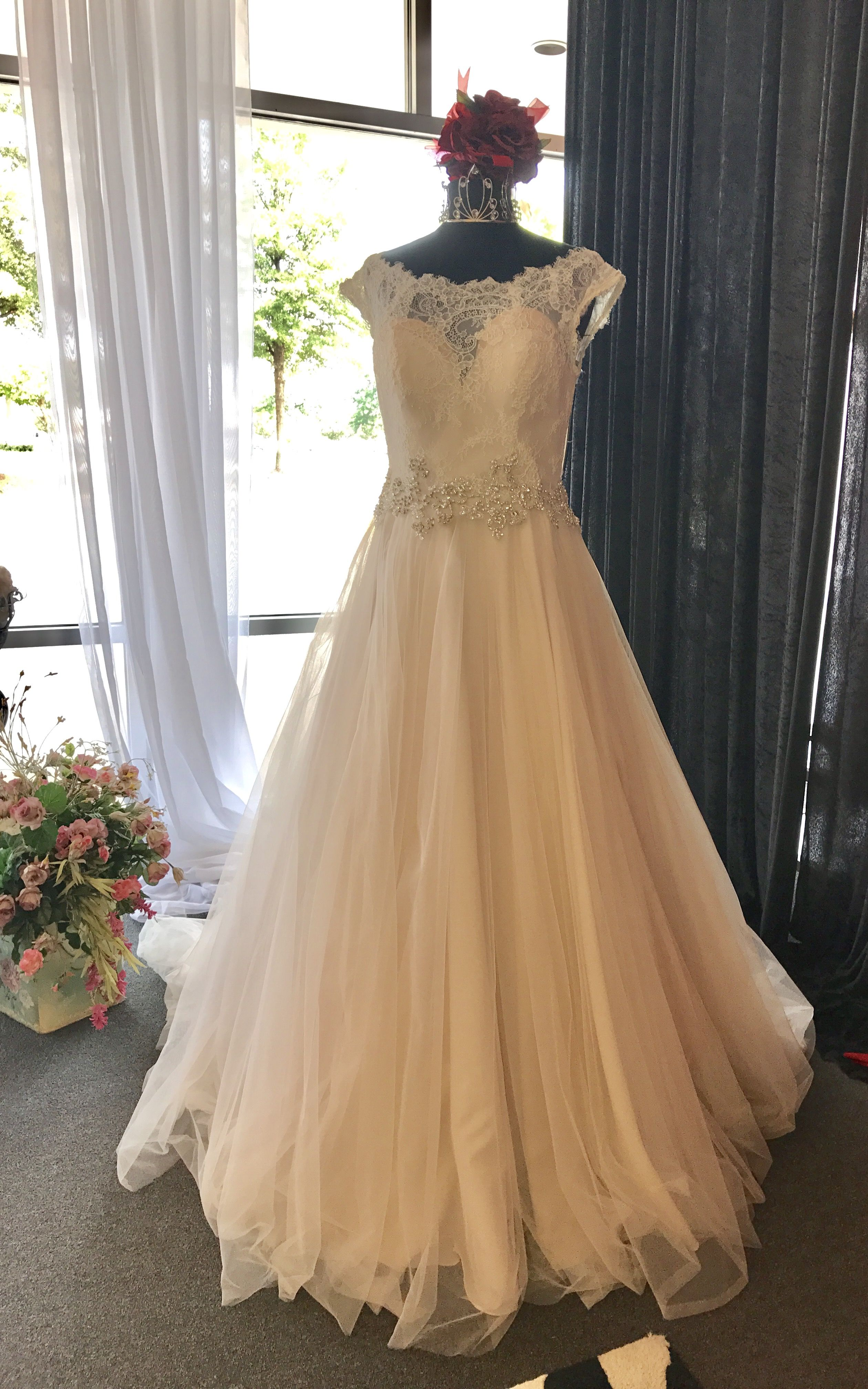Soft elegant feminine and romantic this gown is really special