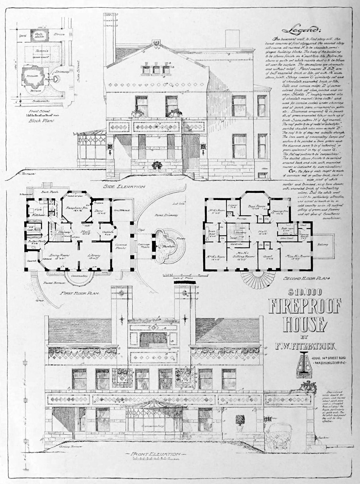 Design For A 10 000 Fireproof House Archi Maps Photo Architecture Mapping Architecture Drawing Architecture