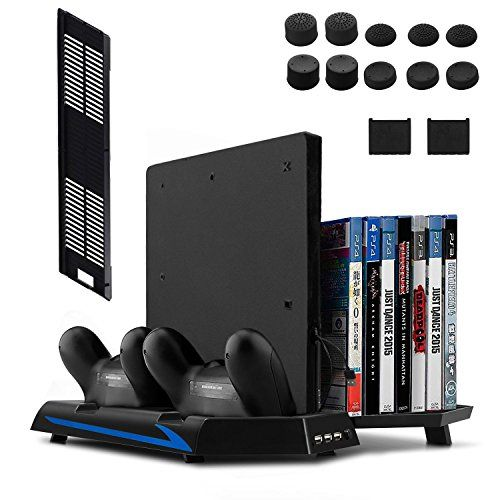 Newest Version Keten Vertical Stand For Ps4 Slim Ps4 With Cooling