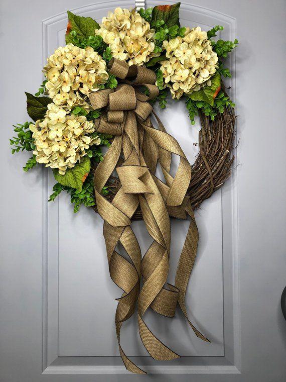 Photo of Spring Wreath – Hydrangea wreath exclusive collection 2019 – wreaths – easter wreath – farmhouse wreath – mothers day – housewarming wreath-