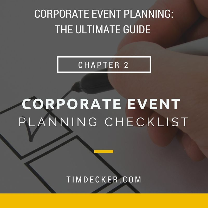 Corporate Event Planning Checklist  Will I Am So