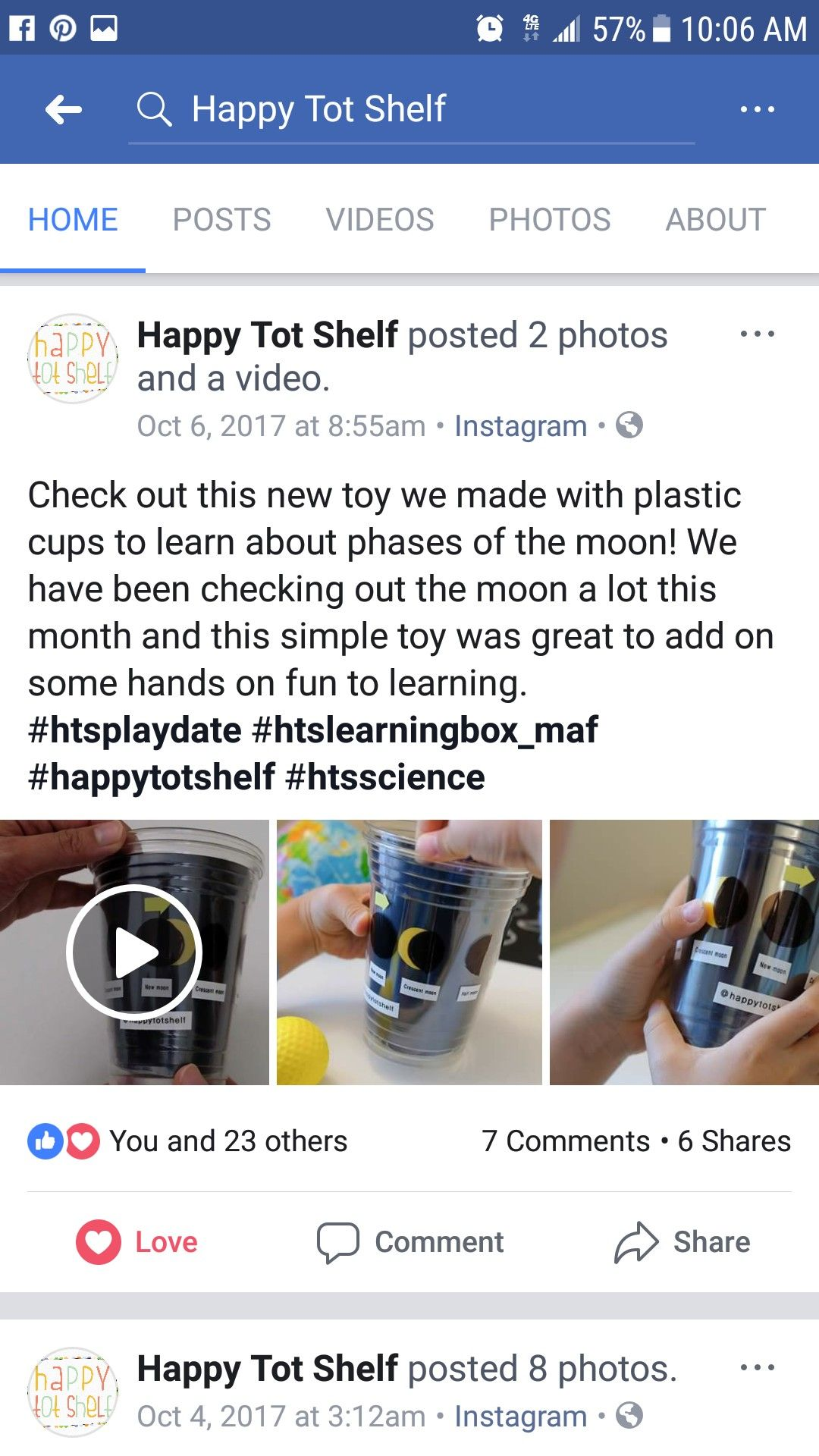 Moon Phases Clear Cup Space Sky Astronomy Earlyscience