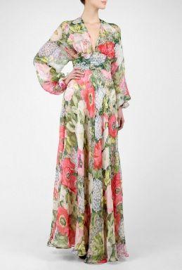 Osmose Botanical Print Maxi Dress by Paul