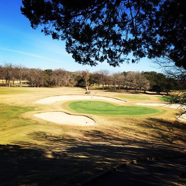 Beer Shield Gear On Instagram Happy Valentine S Day The Heart Shaped Green At Mill Creek Golf Course In Salado Tx Salado Instagram Golf Courses