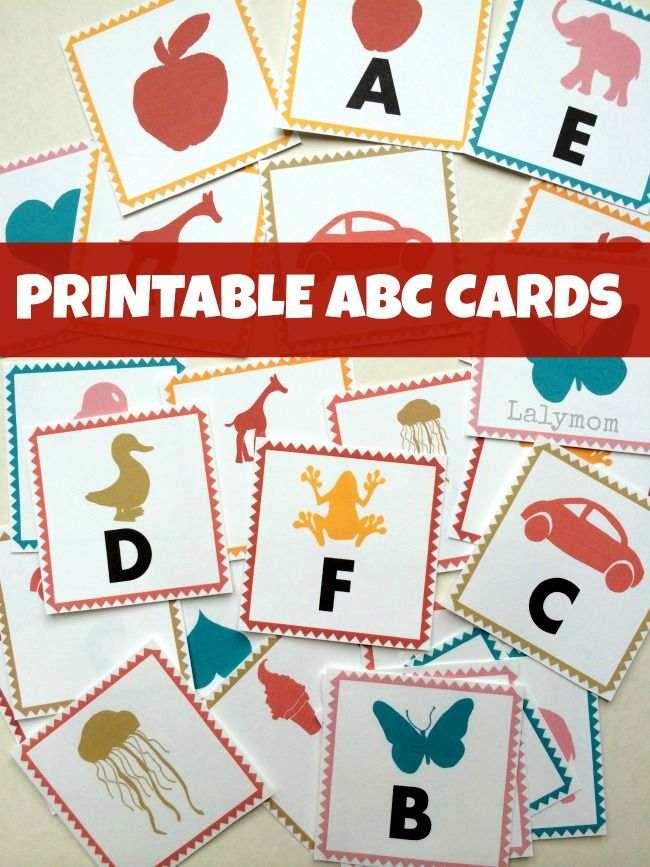 printable abc letter cards from lalymom three different print rh pinterest fr