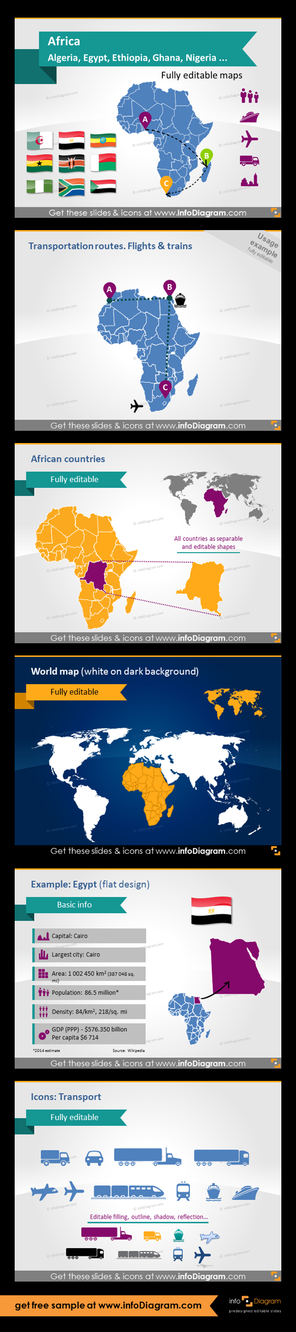 Africa countries editable powerpoint maps localization and africa countries editable powerpoint maps localization and transport icons country statistics fully gumiabroncs Image collections
