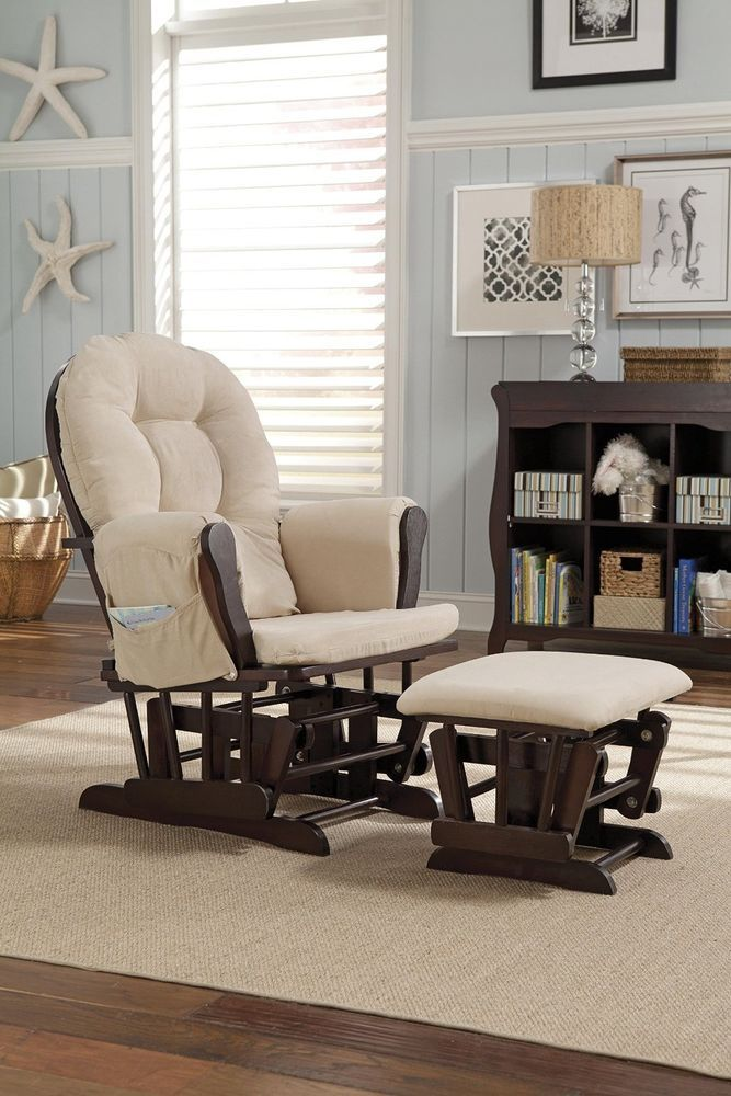 Wondrous Nursery Glider W Ottoman Rocker Rocking Chair Lounge Gmtry Best Dining Table And Chair Ideas Images Gmtryco