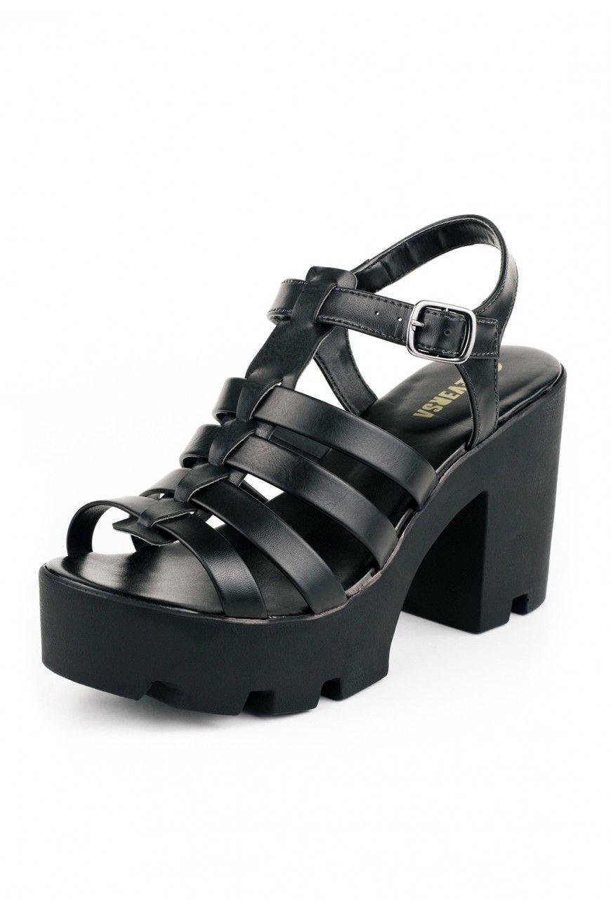 Ofertas para sandália feminina salto grosso tratorada ao