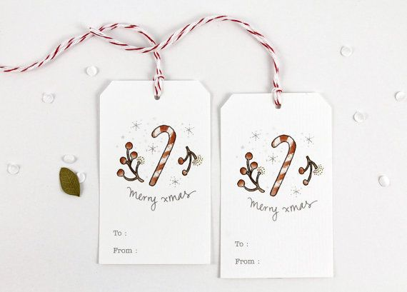 10 Christmas Tags - Candy