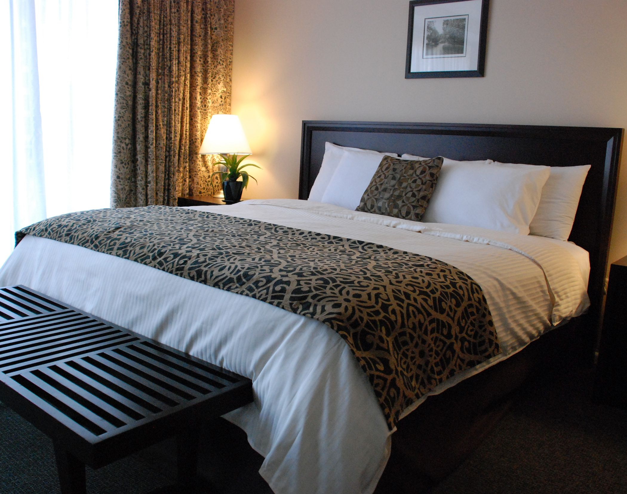 Our One Bedroom Suite With A King Bed At The Windsor Suites Philadelphia The Windsor Suites