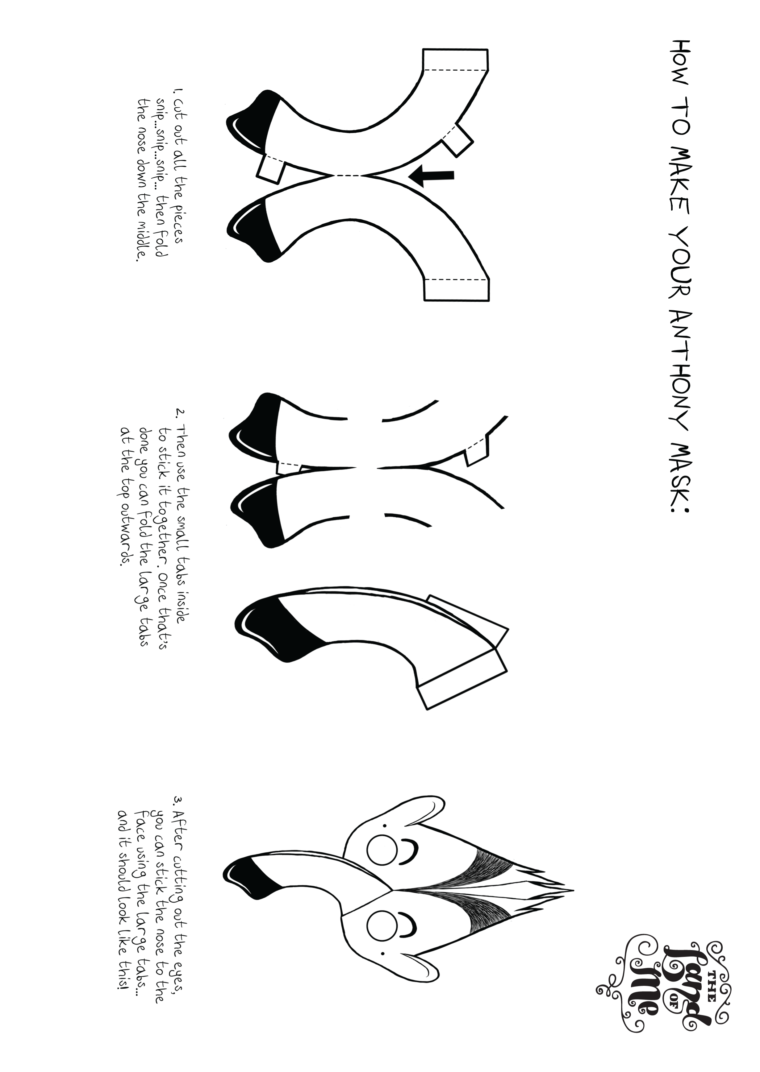 Instructions on how to make an Anthony the anteater mask