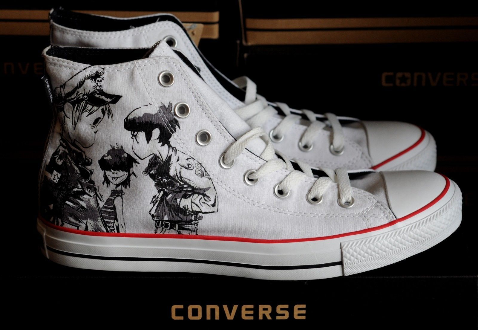 ccce648552b3 Gorillaz Converse All Star Chuck Taylor Limited Edition Comic rare Music  Edition