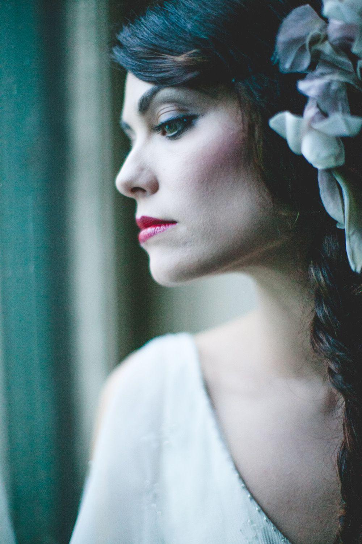 Romantic makeup with red lips #crueltyfree #eco #Organic #Makeup
