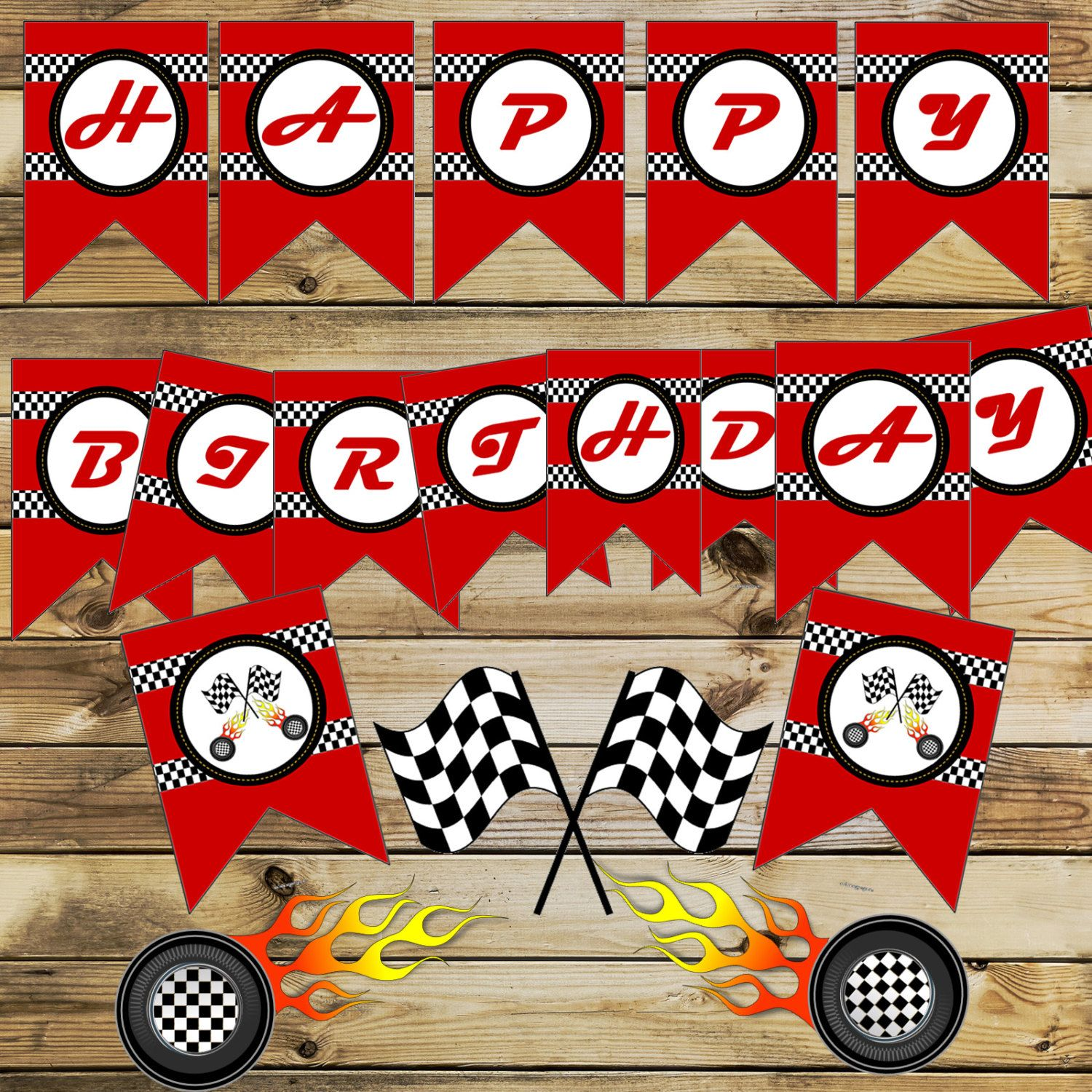 Race Car BannerRacing cars party banner Race Car party | Cars 3 ...