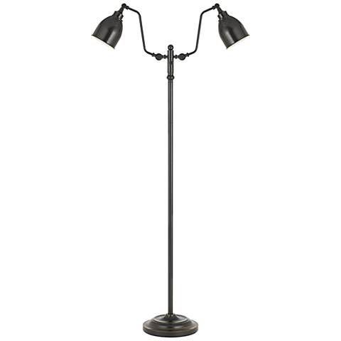 Wolfert Dark Bronze Dual Round Head Pharmacy Floor Lamp 10t55 Lamps Plus Pharmacy Floor Lamp Floor Lamp Lamp