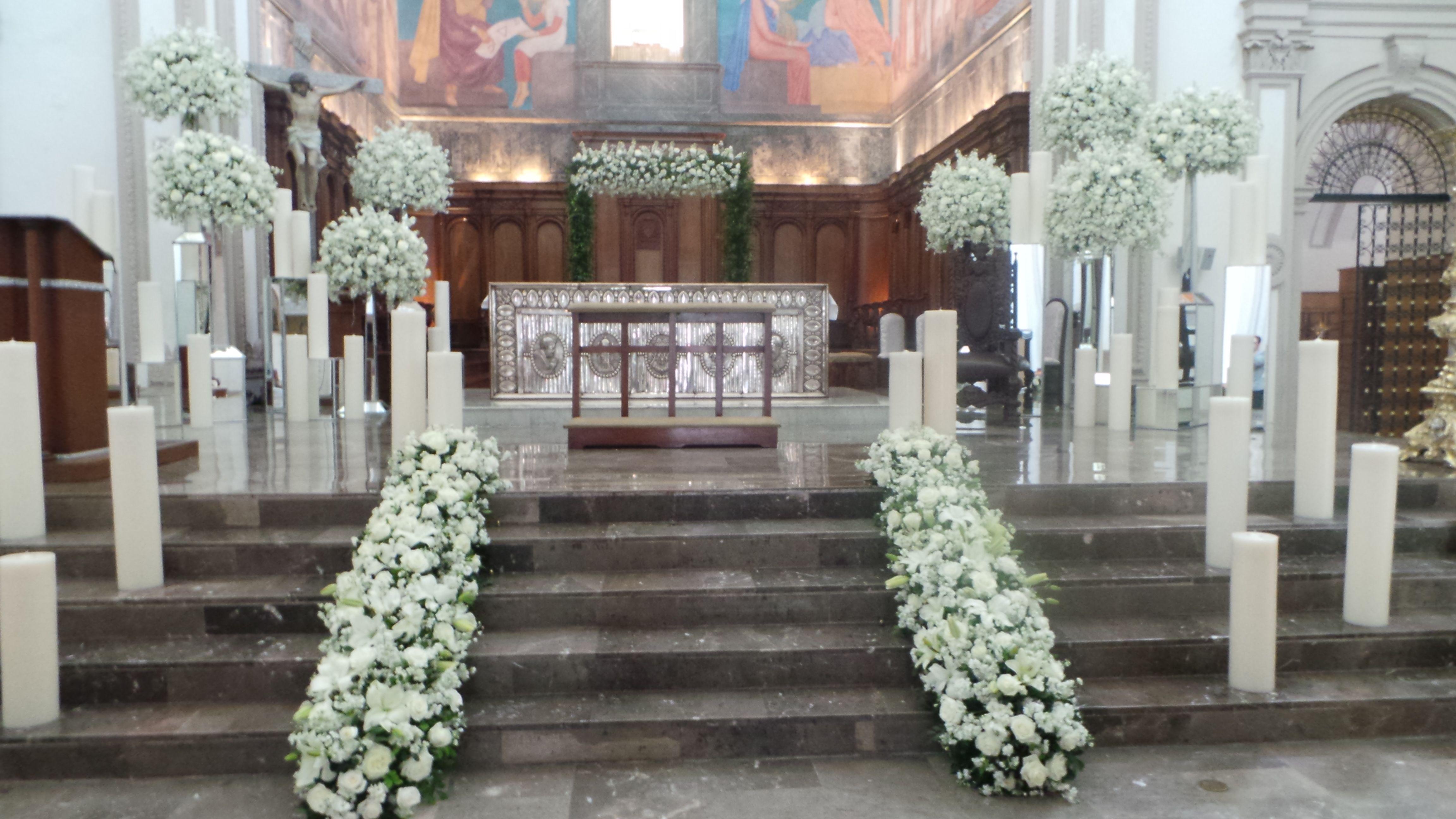 Decoración De Iglesia Monterrey Bodas En 2019 Ceremonias