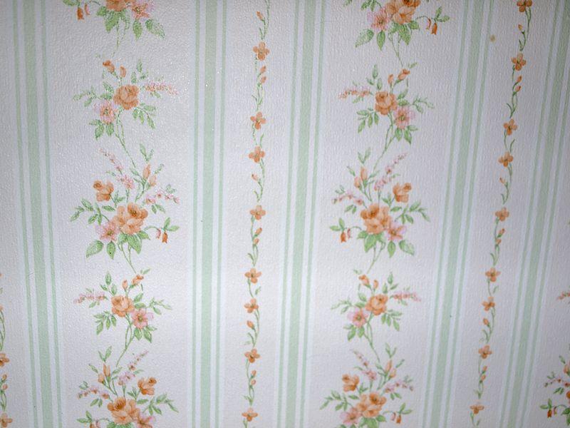 Shabby Chic Tapete vintage tapete shabby chic blümchen und streifen room
