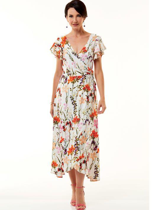 B6543 | Misses\' Wrap Dress Sewing Pattern | Butterick Patterns ...