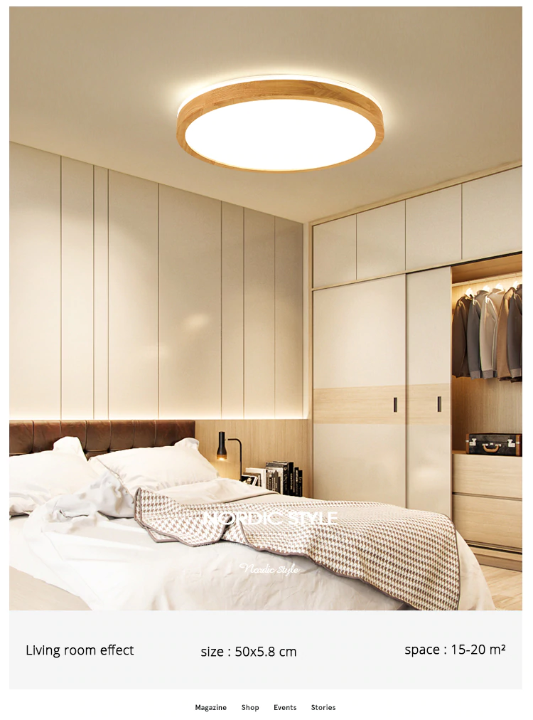 Led Ceiling Light Wood Round Square For